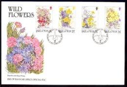 Isle Of Man Yv 344/47, Flore,Fleurs Sauvages 1987 . FDC - Man (Ile De)