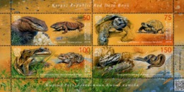 Kyrgyzstan - Express Post - 2019 - Red Book Of Kyrgyzstan - Reptiles And Amphibians - Mint Souvenir Sheet - Kirgizië
