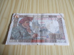 France.Billet 50 Francs Jacques Coeur 18/12/1941. - 1871-1952 Antichi Franchi Circolanti Nel XX Secolo