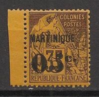 Martinique - 1888-1891 - N°Yv. 13a - 05 Sur 35c Violet Sur Jaune-orange - Petit Bdf - Neuf Luxe ** / MNH / Postfrisch - Martinique (1886-1947)