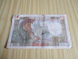 France.Billet 50 Francs Jacques Coeur 15/05/1941. - 1871-1952 Antichi Franchi Circolanti Nel XX Secolo