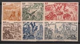 Martinique - 1946 - PA N°Yv. 7 à 12 - WW2 - Série Non Dentelé / Imperf. - Neuf Luxe ** / MNH / Postfrisch - Airmail