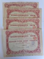 LOT De 4 Ets SHYB    Neuilly Sur Seine  1925 - Aandelen