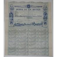 75 - PARIS 1909 - MINES DE LA BETICA - ACTION DE 250 FRANCS - - Mineral