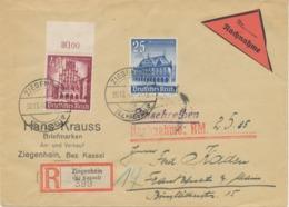 DEUTSCHES REICH 1940 Winterhilfswerk 25+15 Pf (Rathaus Bremen) Und 40+35 Pf (Rathaus Münster) Auf Seltene Kab.-Nachnahme - Germania