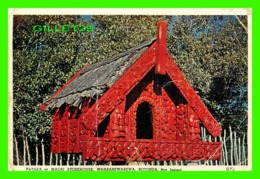 ROTORUA, NOUVELLE ZÉLANDE - PATAKA, OR MAORI STOREHOUSE, WHAKAREWAREWA - TRAVEL - COLIN BRANCH - - Nouvelle-Zélande