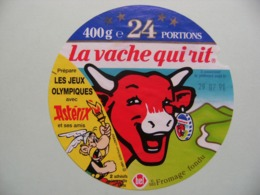 """Etiquette Fromage Fondu - Vache Qui Rit - 24 Portions Bel Pub """"Astérix Et Les Jeux Olympiques""""   A Voir ! - Fromage"""