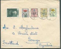 N°813/817 - Obl. Sc IEPER 1 (YPRES) Sur Lettre Du 26-12-1949 Vers L'Ecosse.   - 14562 - Lettres & Documents
