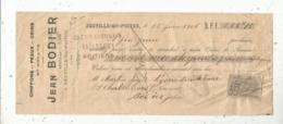 Lettre De Change , Mandat , Chiffons ,peaux ,crins ,J. Bordier,Neuville Du Poitou, 1906 , Frais Fr :1.65 E - Bills Of Exchange