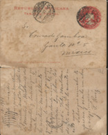 J) 1901 MEXICO, MEXICAN REPUBLIC, EAGLE, 2 CENTS RED, POSTCARD, POSTAL STATIONARY, CIRCULATED COVER, FROM MEXICO - Mexico