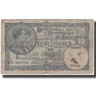 Billet, Belgique, 5 Francs, 1931-05-05, KM:97b, B+ - [ 2] 1831-... : Regno Del Belgio