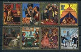 PINTURAS DE AJEDREZ / CHESS PAINTS / PEINTURES D'ECHECS - PARAGUAY 1978 YVERT 1604 / 1608 COMPLETE SET OBLITERES - LILHU - Arte