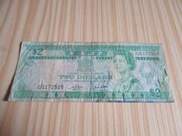 Fidji.Billet 2 Dollars Elizabeth II. - Fidji