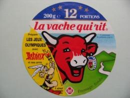 """Etiquette Fromage Fondu - Vache Qui Rit - 12 Portions Bel Pub """"Astérix Et Les Jeux Olympiques""""   A Voir ! - Cheese"""