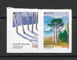 2011 MNH Greenland, Pair From Booklet Postfris** - 2011