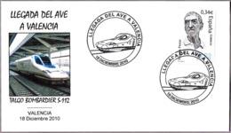 LLEGADA DEL AVE A VALENCIA - Talgo Bombardier S-112. Valencia 2010 - Trains