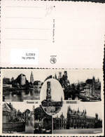 630273,Mehrbild Ak Brugge Brügge Minnewater Stadthuis Belgium - Ohne Zuordnung