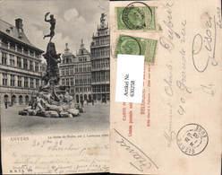 630258,Anvers Antwerpen La Statue De Brabo Par J. Lambeaux Belgium - Belgien