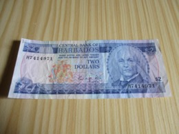 Barbades.Billet 2 Dollars Bovell. - Barbados