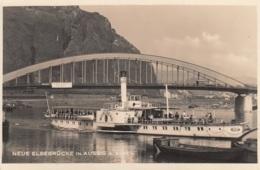 """Weiße Flotte """"Mühlberg"""",Neue Elbebrücke In Aussig, Ungelaufen - Piroscafi"""