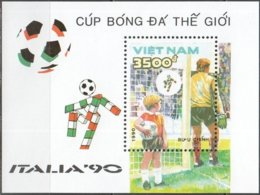 Vietnam 1990 Yvertn° Bloc 51 *** MNH Cote 2,50 Euro  Coupe Du Monde En Italie - 1990 – Italie