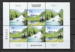 2012 MNH Bosnia, Serbian Post, Booklet Pane, Postfris** - Europa-CEPT
