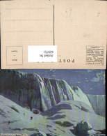 629751,Künstler Ak Niagara Falls Wasserfall Eisfall Winter New York - NY - New York
