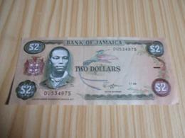 Jamaïque.Billet 2 Dollars Bogle. 01/07/1989 - Giamaica