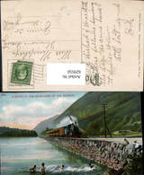 629550,A Scene In The Highlands Of The Hudson Eisenbahn Dampflok Railway New York - NY - New York