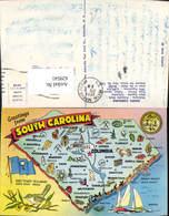 629541,Lage Ak South Carolina Columbia Greenwood Charleston - Ansichtskarten