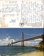 629538,San Francisco Bay Bridge Brücke California - Ansichtskarten