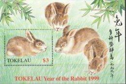 Tokelau 1999 Yvertn° Bloc 24  *** MNH Cote 6,00 Euro Faune Lièvre Rabbit - Tokelau
