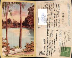629504,Azaleas And Lake Scene Bellingrath Gardens Mobile Alabama - Ansichtskarten