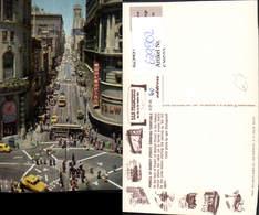 629502,Powell At Market Street Showing Turntable San Francisco California - Ansichtskarten