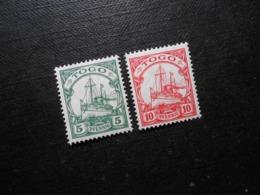 D.R.Mi 21/22 - 5/10Pf*MLH - Deutsche Kolonien ( TOGO ) 1909/1913 - Mi 3,50 € - Colonia: Togo