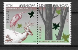 2011 MNH Greece From Booklet, Postfris** - 2011