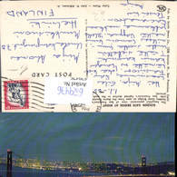 629476,San Francisco Golden Gate Bridge By Night Brücke California - Ansichtskarten