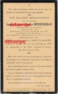 Bidprentje Ignace Meersseman Wulpen 1847 Politie Opziener En Overleden Te Leuven 1929 Bruylandts - Images Religieuses
