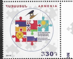 ARMENIA , 2019, MNH,EURASIAN ECONOMIC UNION,1v - Vereine & Verbände