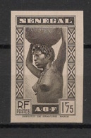 Sénégal - 1938 - N°Yv. 148a - Sénégalaise 1f75 Noir - Essai Non Dentelé / Imperf. - Neuf Luxe ** / MNH / Postfrisch - Sénégal (1887-1944)