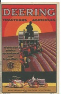 CARTE PUBLICITAIRE   DEERING ..TRACTEURS AGRICOLES - Reclame