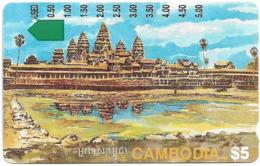 Cambodia - Telstra - Anritsu - Angkor Ruins, (5.00$ On Back), 5$, 1994, Used - Kambodscha