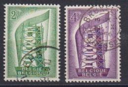 Europa Cept 1956 Belgium 2v Used (44619) - Europa-CEPT