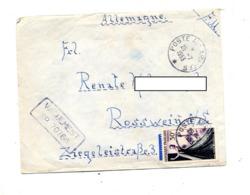Lettre Cachet Poste Aux Armees Sur Couture + Vaguemestre - Postmark Collection (Covers)