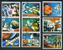 ASTRONAUTICA DEL FUTURO / ASTRONAUTICS - PARAGUAY 1978 YVERT 1626 / 1632 AEREO 797 / 798 COMPLETE SET OBLITERES - LILHU - Arte