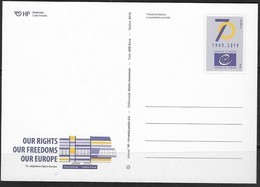 CROATIA, 2019, MINT, POSTAL STATIONERY, PPP, COUNCIL OF EUROPE - Organizations