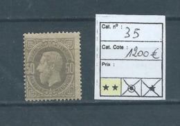Belgique Belgïe COB 35 MNH** Cote 1200 € - 1869-1883 Léopold II