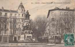 Alpes Maritimes : NICE : Place Béatrix - Monument Gambetta - Monuments, édifices