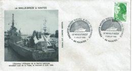 1988 - Oblitération Temporaire - Le MAILLÉ BRÉZÉ PREMIER MUSÉE NAVAL A FLOT DE FRANCE - Nantes - Cachets Commémoratifs