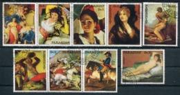 GOYA - PAINTING PEINTURE PINTURA - PARAGUAY 1978 YVERT 1633 / 1639 AEREO 799 / 780 COMPLETE SET OBLITERES - LILHU - Arte